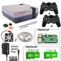 New NESPi Case Plus Kit With 2 Pcs 2 4GHz Wireless Gamepads Optional 16G 32G Micro