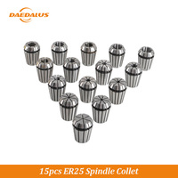 Daedalus 1 Set 15PCS CNC Spindle Collet 6MM 8MM 10MM Replacement ER25 Chuck Collet For CNC Lathe Woodworking Machinery Parts