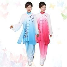 Customize Chinese taichi uniform Kungfu clothing taiji sword suit wushu outfit embroidery for men girl boy children women kids