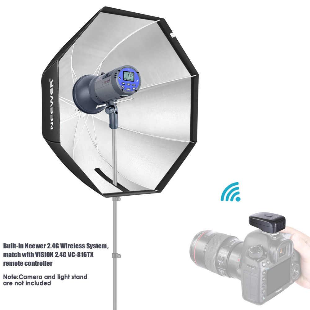 Neewer Vision 4 im Freien Studio Blitz Set Li-Ionen Akku 700 voller Leistung Blitzger/äte mit 2,4G System Bowens Montage 3,96 Pfund mit wei/ßem Schirm und 60x90 cm Softbox Ausl/öser enthalten