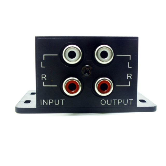 Car Auto Power Amplifier Audio Regulator Bass Subwoofer Equalizer Crossover Controller 4 RCA Adjust Line Level Volume Amplifier 1