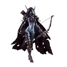 15CM WOW Sylvanas Windrunner Archery queen PVC Action Figure Model With Base Collection Boy Toy Birthday Gifts cataclysm lady sylvanas windrunner action figure pvc collection model toys
