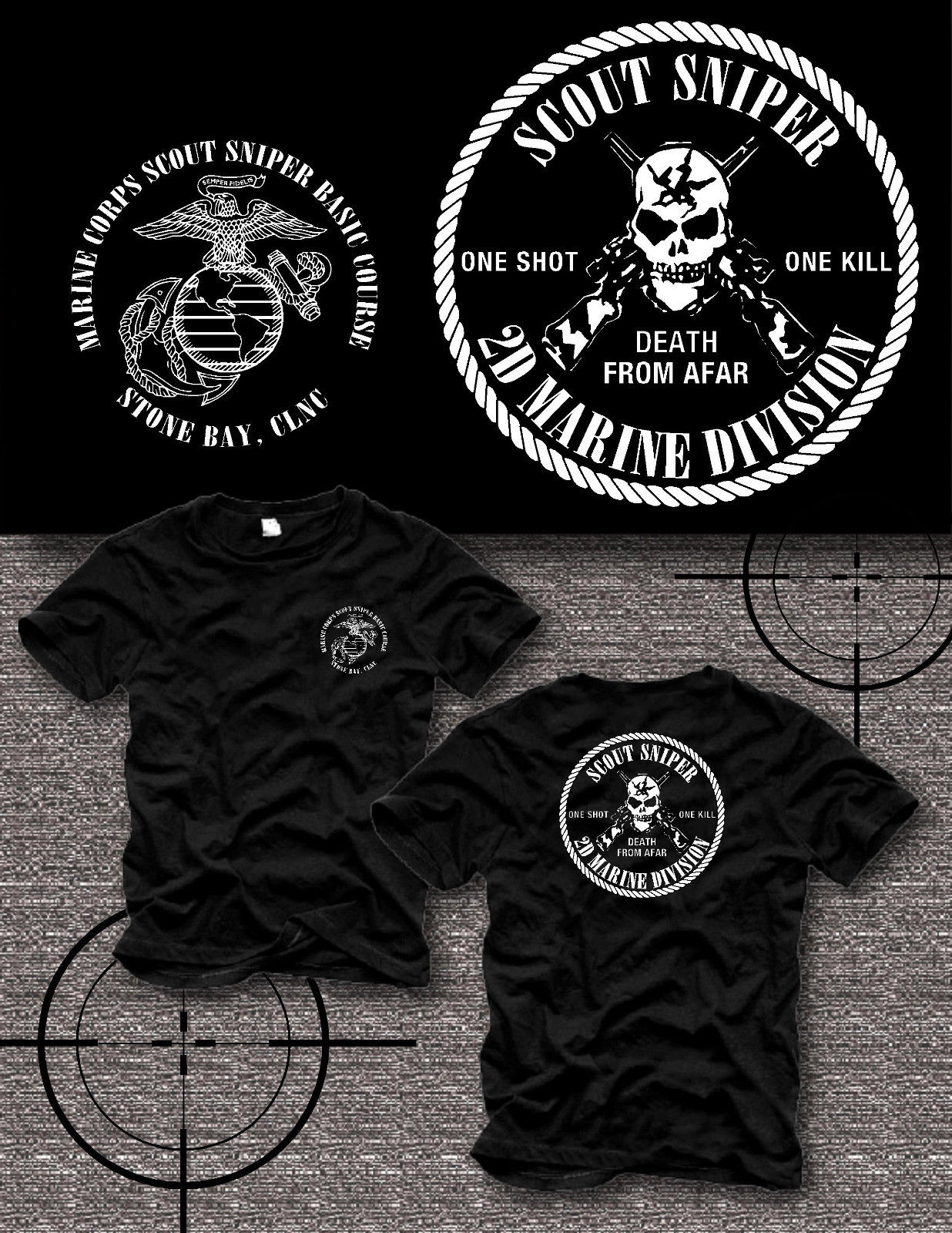 2018 Hot sale Marine Corps Camp Lejeune Scout Sniper Basic Course Brand New USMC T- shirt ...