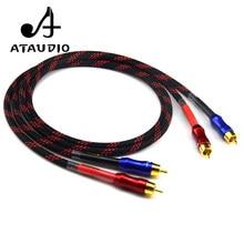 Cabo ataudio hi-fi estéreo par rca, cabo de alta performance premium de áudio hi-fi 2rca para 2rca cabo interligado