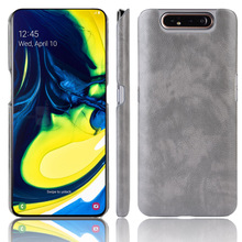 For Samsung Galaxy A80/A90 Case PU Leather Litchi pattern Sk
