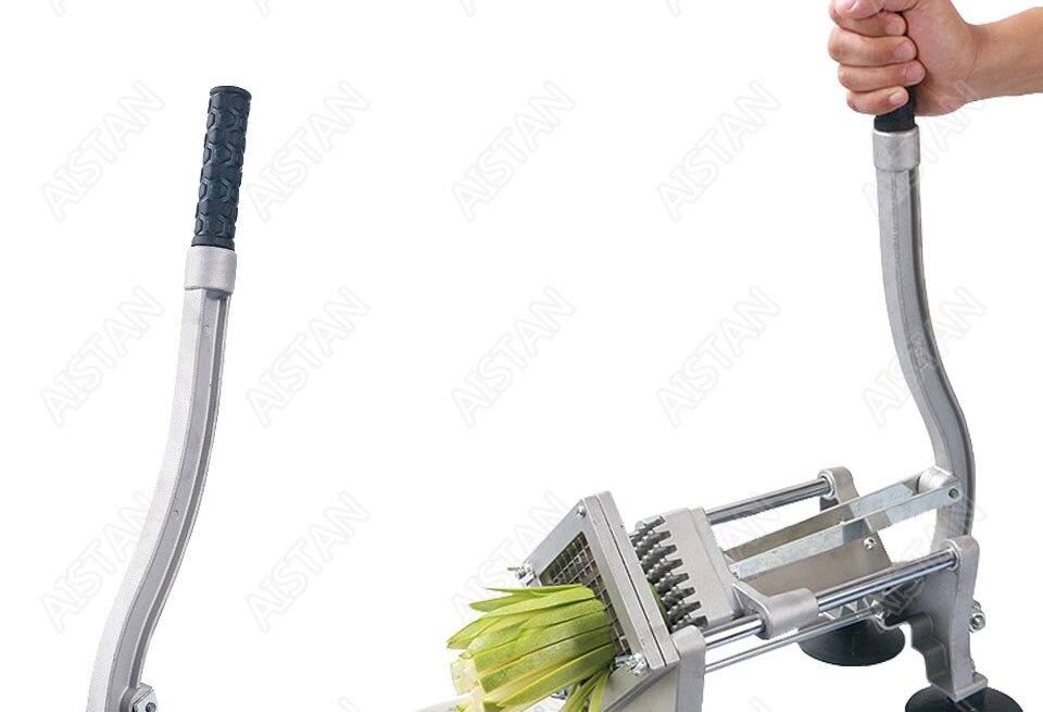 ST1 commerical manual aluminum die-casting potato chipper cutter potato chips cutting machine 9