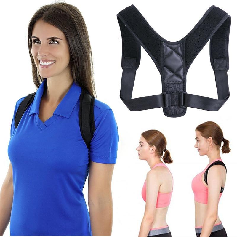 Orthèse soutien ceinture réglable dos Posture correcteur clavicule colonne vertébrale dos épaule lombaire Posture Correction pour adulte unisexe