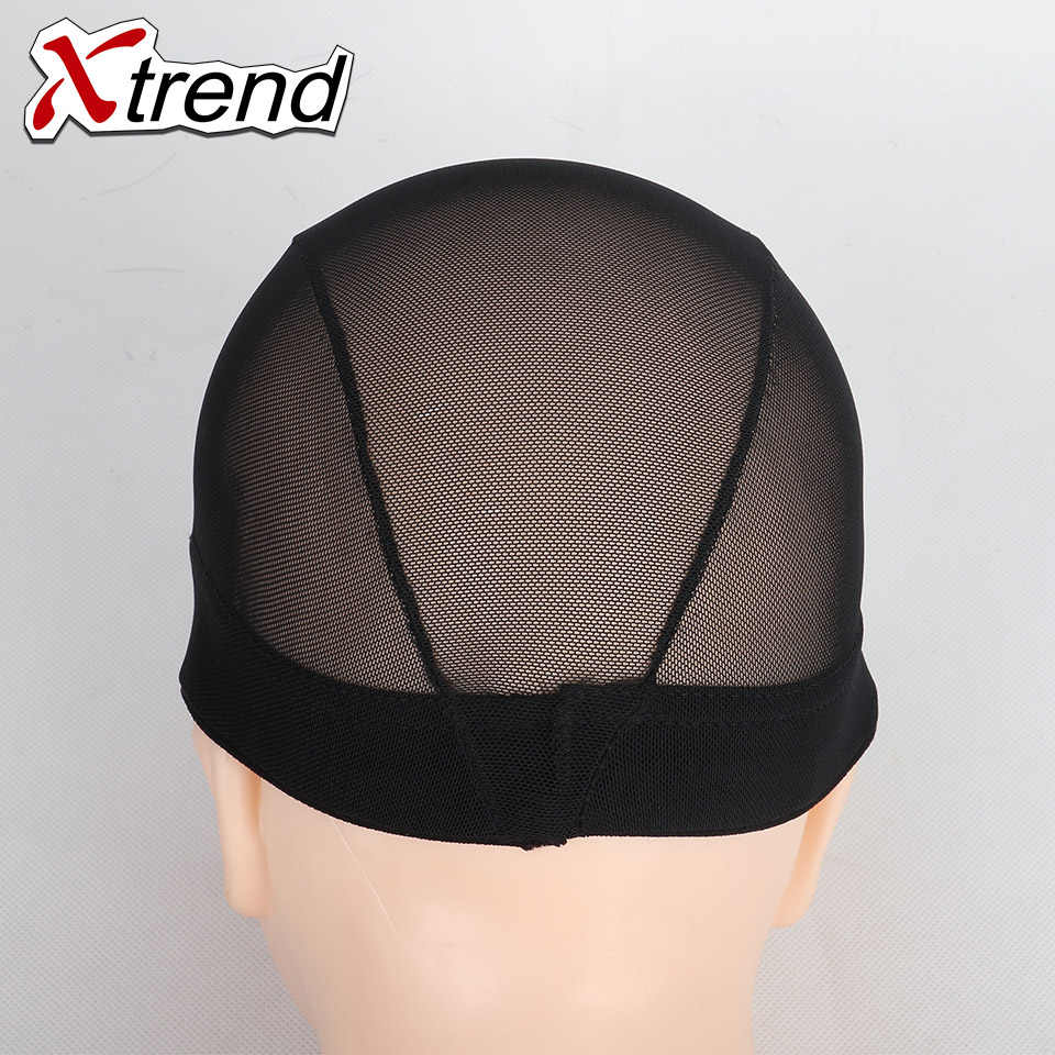 En ucuz 1-10 adet siyah # Dome Nefes Peruk Kapaklar Kolay Dikmek Gerilebilir Dokuma Kap Elastik Naylon örgü Net en kaliteli