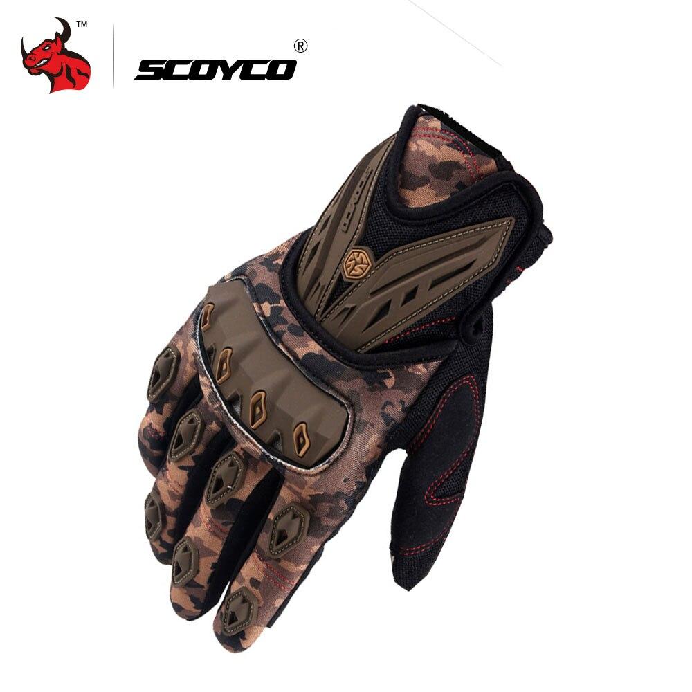 SCOYCO мотоцикл перчатки Мотокросс Off Road Гоночные перчатки дышащий мото перчатки инъекций защиты оболочки Дизайн Guantes мото