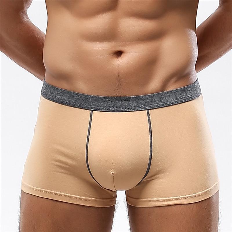 Brand Calvin Boxer Mens Underwear Men Cotton Underpants Male Pure Men Panties Shorts  Sexy 3D U Cueca Solid Calsoncillos Hombre