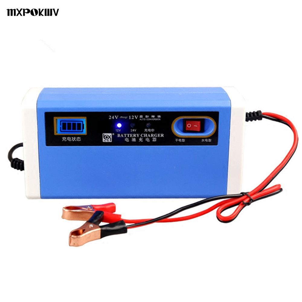 New 12V 24V 10A Car Charger Motorcycle Truck Adapter Smart LCD AGM Lead Acid Gel Battery Charger 12V For Auto Battery 4AH-200AH 72v 10a smart gel agm lead acid battery charger car battery charger auto pulse desulfation charger