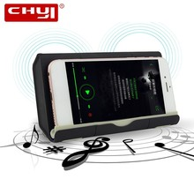 цена на CHYI Near Field Audio Wireless Speaker Inductive Coupling Boombox Subwoofer Hi-fi Soundbar with Powerbank Phone Holder AUX TF PC