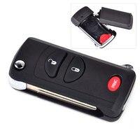 2 1 Button Folding Flip Remote Key Keyless Shell Case FOB Fit For Chrysler Voyager Dodge
