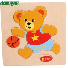 High Quality Wooden Bear Puzzle Educational Developmental Baby Kids Training Toy Aug24