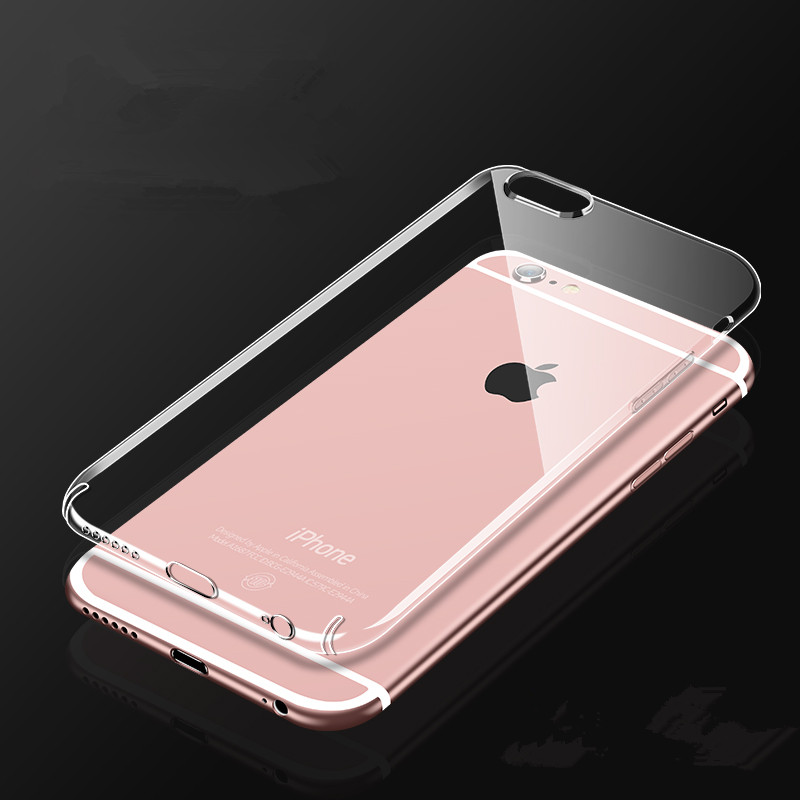 Ultra Thin Soft Transparent TPU Case For iPhone 8 7 Plus 7 5s 5 Clear Silicone Full Cover Coque For iPhone X Case 6 6S Plus Case