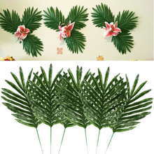 24pcs 2 Kinds Artificial Plants Green Palm Tree Leaves Faux Fake Tropical Home Wall Hanging Decoration 2019 Free Ship