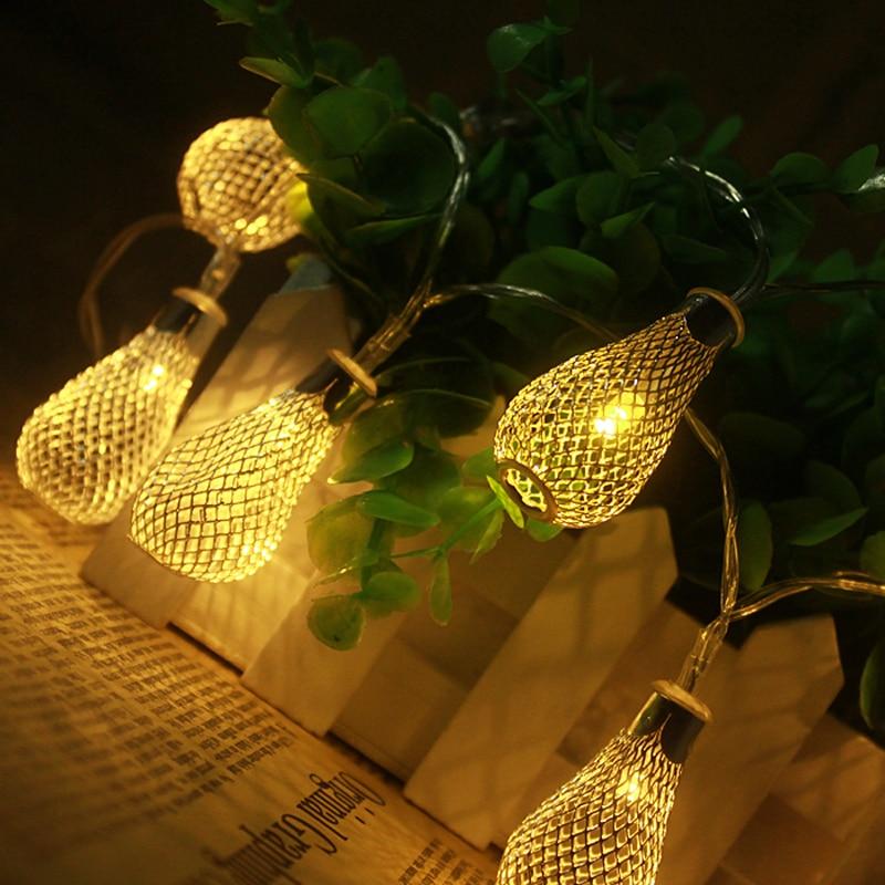 10M 100LEDs 220V vanjski topli bijeli LED string svjetla Metal - Rasvjeta za odmor - Foto 3