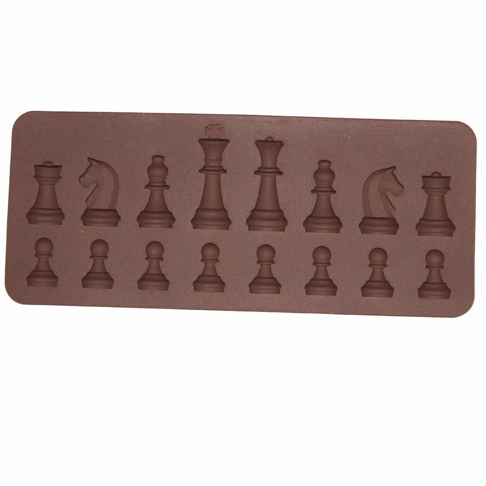 חדש סיליקון 3D בינלאומי שחמט עוגת שוקולד סוכר קרפט עובש עובש kichen אביזרי kichen כלים