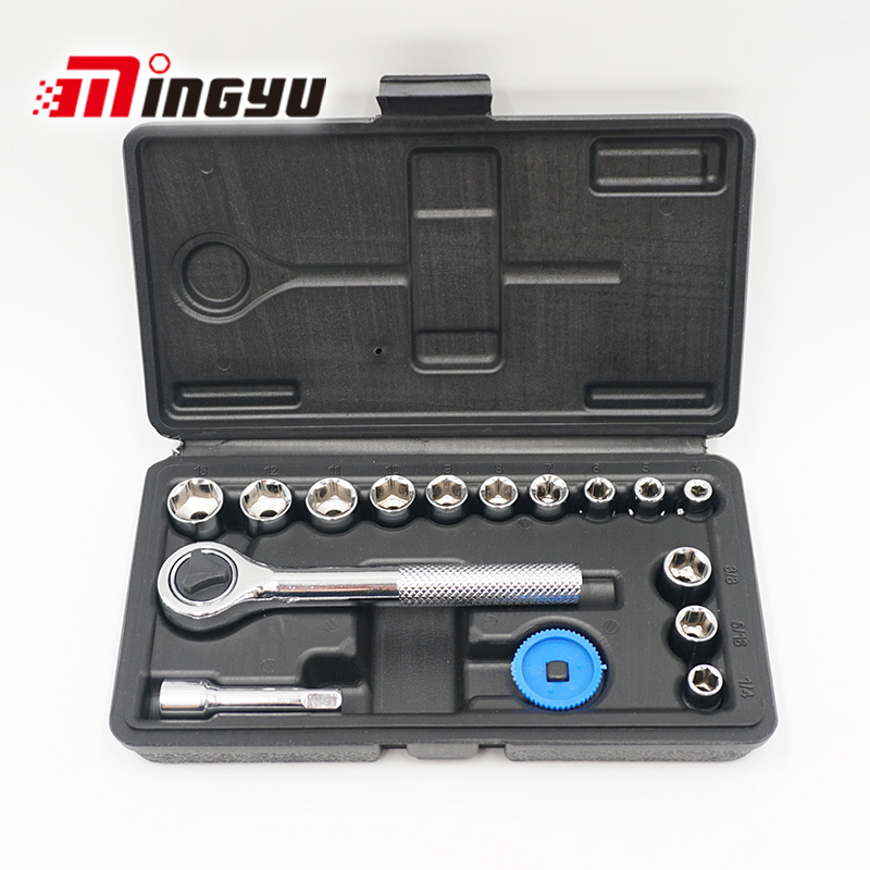 Tool Sets Diligent 17pcs/set Professional Socket Set With Ratchet High Quality Tool Set