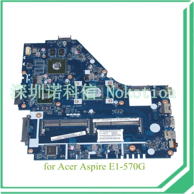 NOKOTION Z5WE1 LA-9535P NBMER11001 NB.MER11.001 For acer aspire E1-570 E1-570G motherboard i3-3217U+Nvidia Graphics dc power jack cable connector for acer aspire e1 e1 530 e1 570 570g 570p for gateway ne570 ne572 ne570p dc30100px00 50 mepn2 002