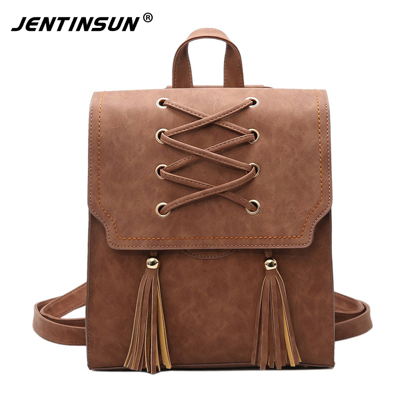 Fashion Women Anti Theft Backpack High Quality Pu Leather School Backpacks for Teenage Girls Large Capacity Tassel Shoulder Bags high quality anime death note luminous printing backpack mochila canvas school women bags fashion backpacks for teenage girls
