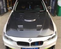 Новая крышка переднего бампера из углеродного волокна, вентиляция в капоте для BMW 3 серии F30 2010 2011 2012 2013 2014 2016