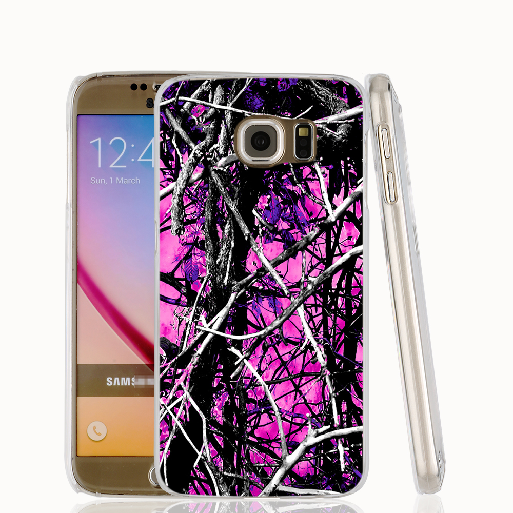 17078 camo trees purple pink fashion cell phone case cover for Samsung Galaxy S7 edge PLUS S6 S5 S4</f