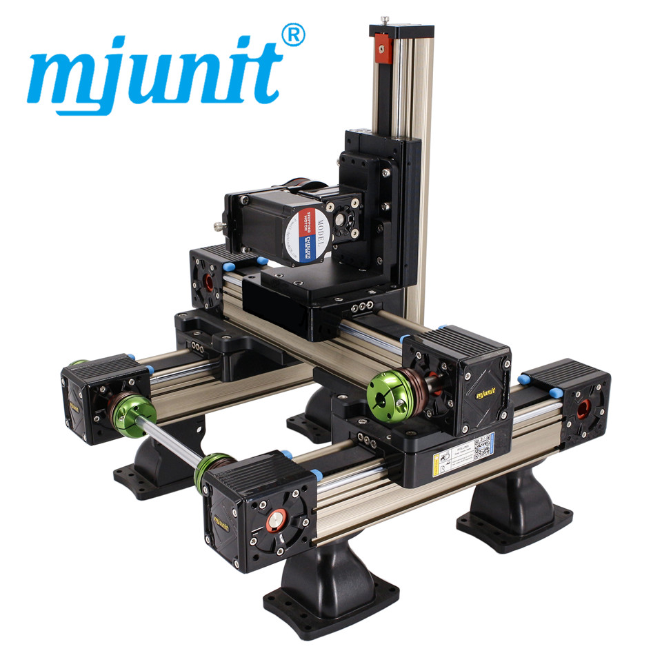 цена на mjunit MJ60+MJ45 xyz Linear Actuator/Side Table Belt Driven w/Drive Pulley linear guide rail with 1000x1000x200mm stroke length