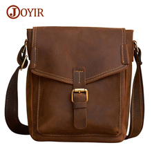 Joyir new arrival fashion genuine leather bags for men leather handbag casual shoulder crossbody bags men's messenger bags 6394