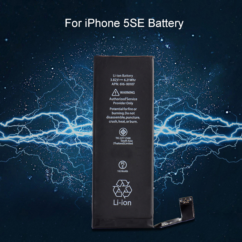 Li-Ion-Battery Phones Replacement Black For 5 SE Built-In 1624mah Internel