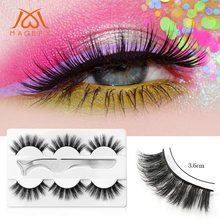 3 Pairs 3D Mink Eyelashes Handmade Crossing Lashes Natural Dramatic Volume Extension False