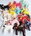 Multicolor Bonito do Cavalo de Couro Chaveiros Animais Chaveiros Pingentes Saco de Escola Presente de Aniversário Para Amigos