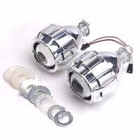 2pcs hid bi xenon lens kit mask Shroud 2.5inch bixenon projector lens for H4 H7 Bi xenon lens H1,H11,9005,9006 car headlight