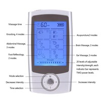 16 Modes Health Care Body Massager Dual Tens Machine Digital Electrical Therapy Acupuncture Massageador Stimulator Device
