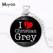 Fifty Shades of Grey,50 Shades of Grey Necklace i love Christian grey Jewelry, Christian pendant, gift for Her Him HZ1(China)
