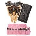 32 Unids Profesional Superior Suave Maquillaje Cosmético Cepillo Conjunto Kit de Maquillaje Mujeres Sets + Bolsa de la Caja HB88