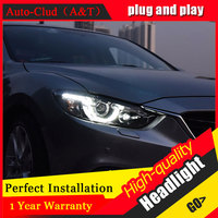 Auto Clud Car Styling For Mazda 6 headlights 2014 2017 For ATENZA head lamp led front Bi Xenon Lens Double Beam HID KIT
