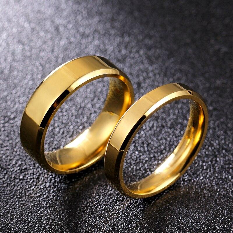 Парное кольцо из нержавеющей стали, 4 мм, 6 мм