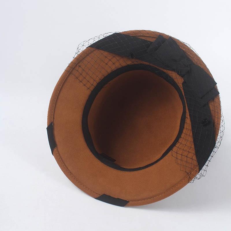40a15e2e0 Hot Sale] Fibonacci Quality Autumn Winter Fedora Hats for Women Mesh ...