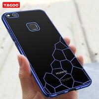 Huawei Nova Case 5 0 Cover Silicon Hard Back Cover Luxury Transparent Capa Orgiginal Yagoo Huawei