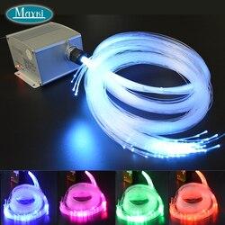 Maykit 12 metr kwadratowy Twinkle Color Effect Star 5w lampa światłowodowa źródło z 328 sztuk mieszanych włókien na 4m z kryształem
