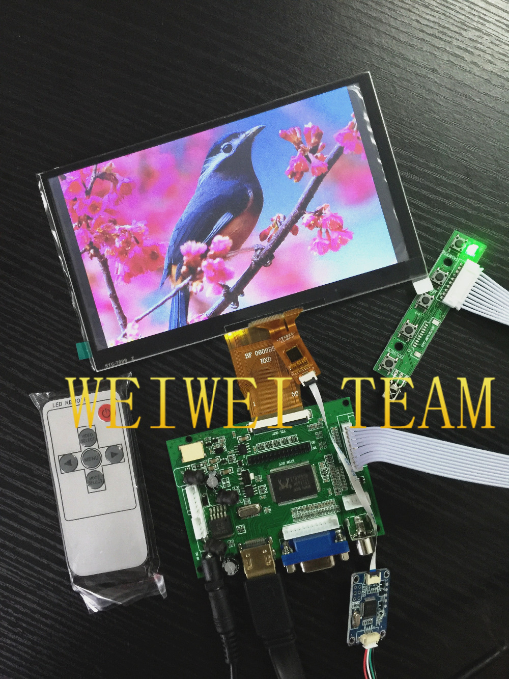 7 inch 1024 600 IPS LCD screen TFT display with capacitive touch screen CTP touch panel