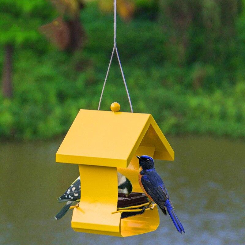 Métal oiseau mangeoire automatique en plein air pigeon imperméable nid d'oiseau fournitures d'alimentation ZP12191046