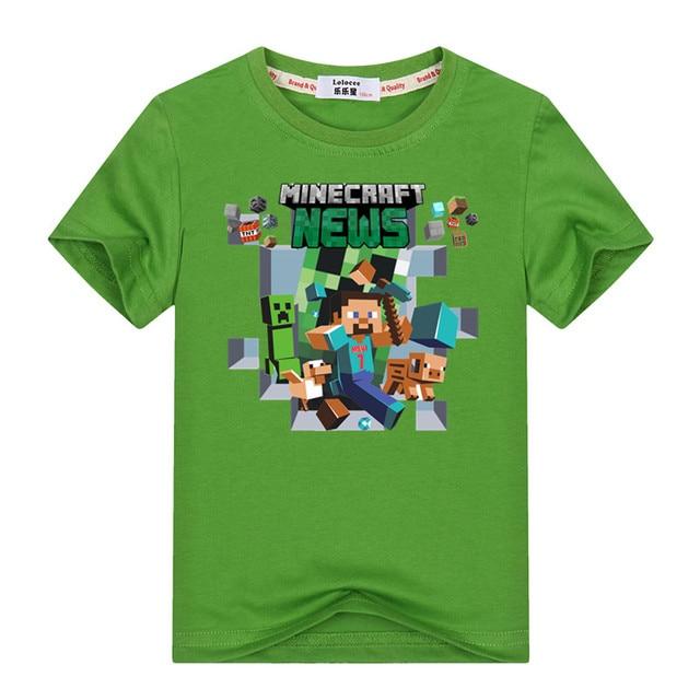 Minecraft Run Away Youth T-Shirt 3-13y Kids Adventure T Shirt 100% Cotton Boys Girls Video Game Tees Tops