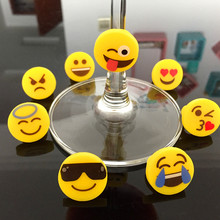 Silicone Emoji Wine Charms for Stemware Glasses, Universal Drink Markers with clip--set of 8pcs