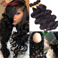 360 Lace Frontal With Bundles 8A Malaysian Body Wave with lace Frontal Closure Malaysian Virgin Hair 360 Lace Frontal Closure