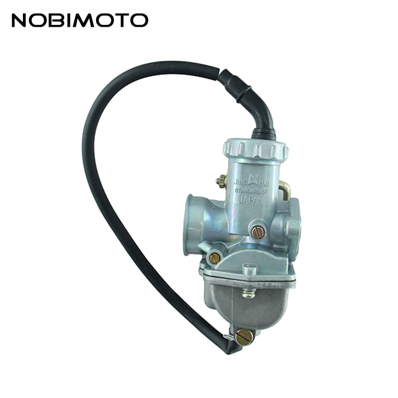 Motorcycle Carburetor CARB 20mm Manual Hand Choke for 50cc 70cc 90cc 100cc ATV Quad Go kart HK-116