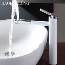 купить Baking Finish Brass Deck Mount Bathroom Basin Faucet Vanity Vessel Sinks Mixer Tap Faucets дешево