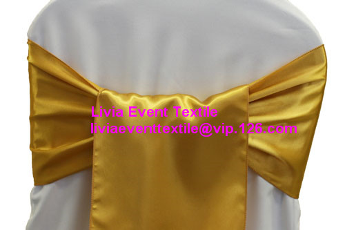 Satin Chair Sash ,Chair Sash Bow 20x270cm For Wedding Events &Party Decoration