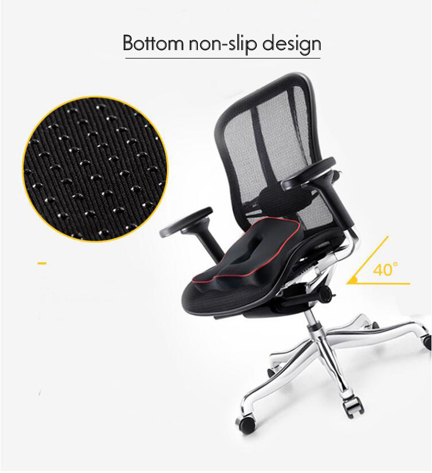 HTB1hT0dXELrK1Rjy0Fjq6zYXFXay Premium Memory Foam Seat Cushion Coccyx Orthopedic Car Office Chair Cushion Pad for Tailbone Sciatica Lower Back Pain Relief
